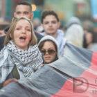 Détenu(e)s palestinien(ne)s en grève de la faim: manif de solidarité